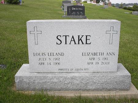 STAKE, LOUIS LELAND - Iowa County, Iowa | LOUIS LELAND STAKE