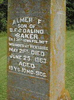 BAKER, ALMER F. - Jackson County, Iowa | ALMER F. BAKER