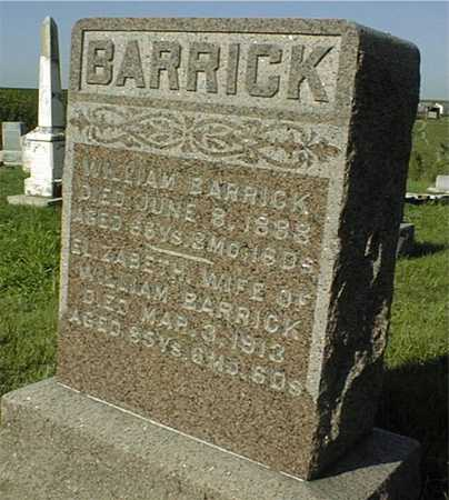 BARRICK, WILLIAM - Jackson County, Iowa | WILLIAM BARRICK