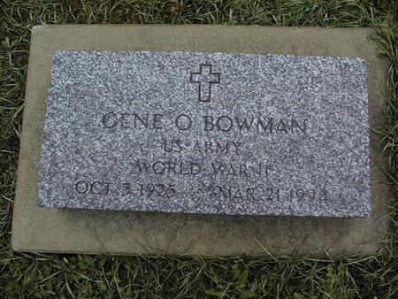 BOWMAN, GENE O. - Jackson County, Iowa   GENE O. BOWMAN