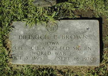 BROWN, DIEDRICH P. - Jackson County, Iowa | DIEDRICH P. BROWN