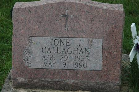 CALLAGHAN, IONE J. - Jackson County, Iowa | IONE J. CALLAGHAN