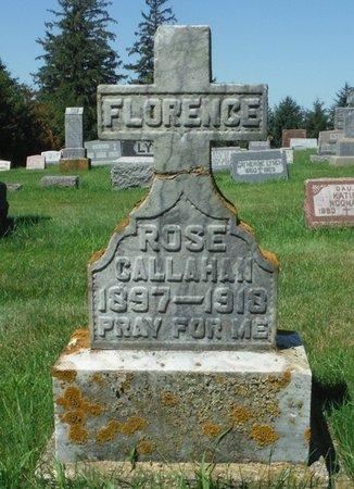 CALLAHAN, FLORENCE ROSE - Jackson County, Iowa   FLORENCE ROSE CALLAHAN