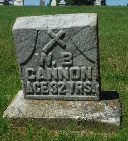 CANNON, W. B. - Jackson County, Iowa   W. B. CANNON