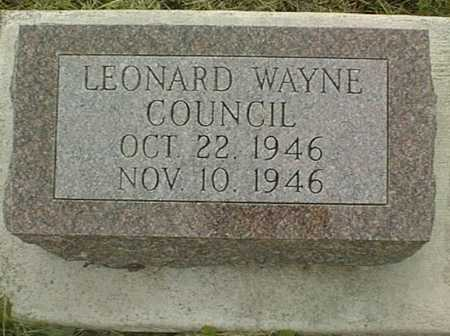 COUNCIL, LEONARD WAYNE - Jackson County, Iowa | LEONARD WAYNE COUNCIL