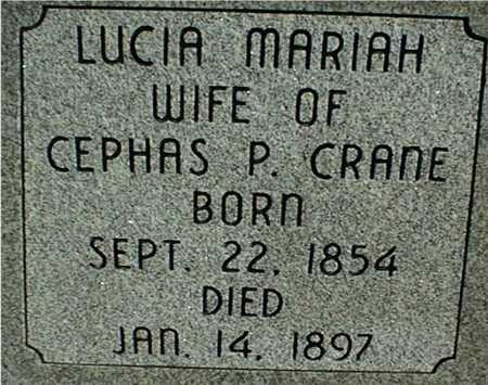 CRANE, LUCIA MARIAH - Jackson County, Iowa | LUCIA MARIAH CRANE