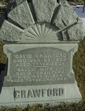 CRAWFORD, SALLIE - Jackson County, Iowa | SALLIE CRAWFORD