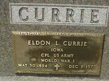 CURRIE, ELDON L. - Jackson County, Iowa   ELDON L. CURRIE
