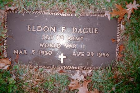 DAGUE, ELDON F. - Jackson County, Iowa | ELDON F. DAGUE