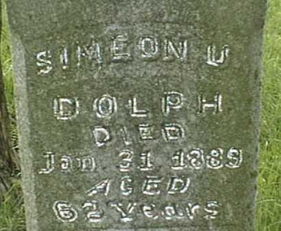 DOLPH, SIMEON U. - Jackson County, Iowa | SIMEON U. DOLPH