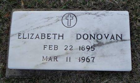 DONOVAN, ELIZABETH - Jackson County, Iowa   ELIZABETH DONOVAN