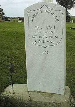 DUNHAM, MAJOR JOHN S. - Jackson County, Iowa | MAJOR JOHN S. DUNHAM