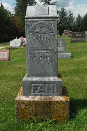 FAH, MARGARET - Jackson County, Iowa   MARGARET FAH