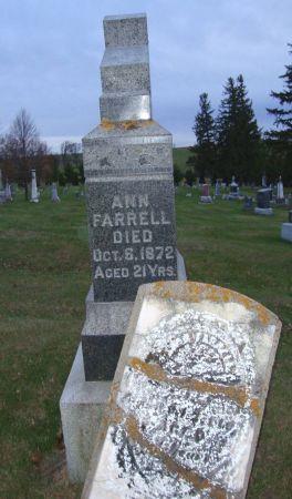 FARRELL, ANN - Jackson County, Iowa   ANN FARRELL