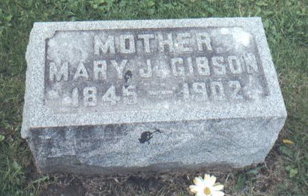 GIBSON, MARY J. - Jackson County, Iowa   MARY J. GIBSON