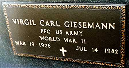 GIESEMANN, VIRGIL CARL - Jackson County, Iowa | VIRGIL CARL GIESEMANN