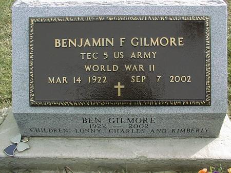 GILMORE, BENJAMIN F. - Jackson County, Iowa | BENJAMIN F. GILMORE