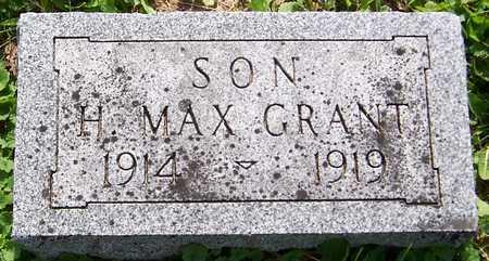GRANT, H. MAX - Jackson County, Iowa | H. MAX GRANT