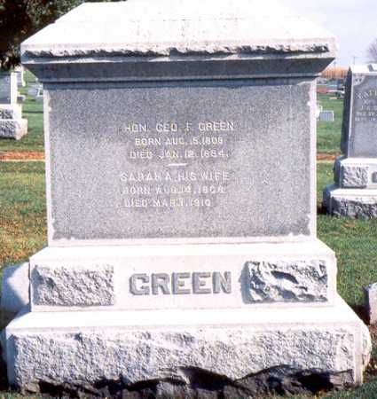 GREEN, GEORGE FOSTER - Jackson County, Iowa | GEORGE FOSTER GREEN