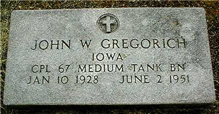 GREGORICH, JOHN W. - Jackson County, Iowa | JOHN W. GREGORICH
