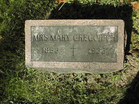 GREGORICH, MARY - Jackson County, Iowa | MARY GREGORICH
