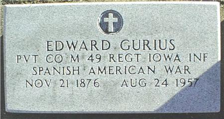 GURIUS, EDWARD - Jackson County, Iowa | EDWARD GURIUS