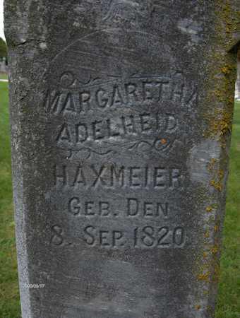 HAXMEIER, MARGARETHA ADELHEID - Jackson County, Iowa | MARGARETHA ADELHEID HAXMEIER