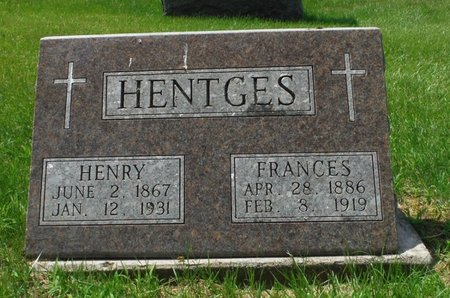HENTGES, FRANCES - Jackson County, Iowa | FRANCES HENTGES