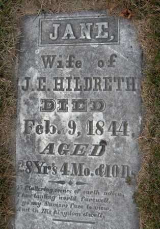 HILDRETH, JANE - Jackson County, Iowa | JANE HILDRETH