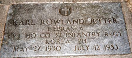 JETTER, KARL ROWLAND - Jackson County, Iowa | KARL ROWLAND JETTER