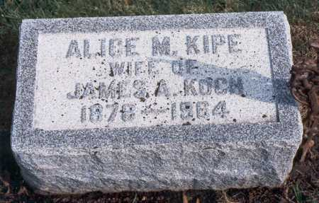 KIPE KOCH, ALICE MARY - Jackson County, Iowa | ALICE MARY KIPE KOCH