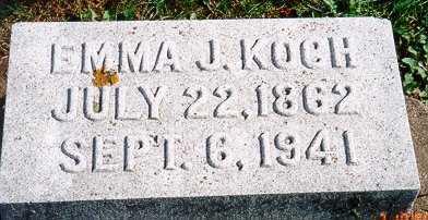 FINCH KOCH, EMMA J. - Jackson County, Iowa | EMMA J. FINCH KOCH