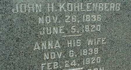 KOHLENBERG, ANNA - Jackson County, Iowa | ANNA KOHLENBERG