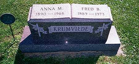 KRUMVIEDE, ANNA M - Jackson County, Iowa | ANNA M KRUMVIEDE