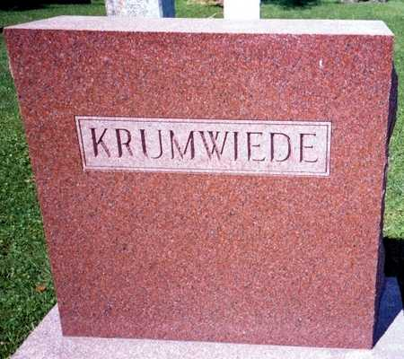 KRUMWIEDE, FAMILY - Jackson County, Iowa | FAMILY KRUMWIEDE