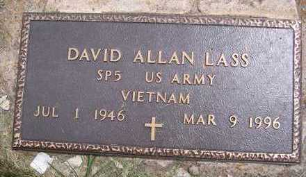 LASS, DAVID ALLAN - Jackson County, Iowa | DAVID ALLAN LASS