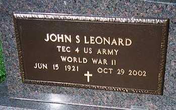 LEONARD, JOHN S. - Jackson County, Iowa | JOHN S. LEONARD