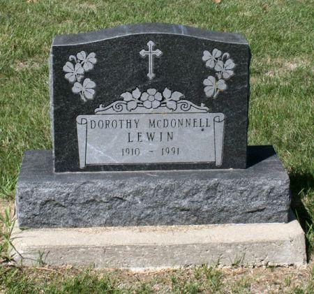 MCDONNELL LEWIN, DOROTHY - Jackson County, Iowa | DOROTHY MCDONNELL LEWIN