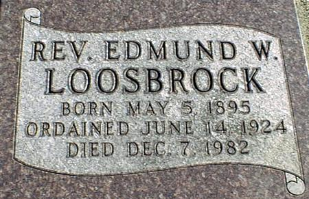LOOSBROCK, REV. EDMUND W. - Jackson County, Iowa | REV. EDMUND W. LOOSBROCK