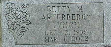 ARTERBERRY LYNCH, BETTY M. - Jackson County, Iowa | BETTY M. ARTERBERRY LYNCH