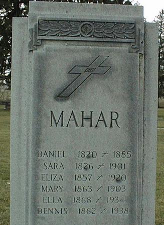 MAHAR, MARY - Jackson County, Iowa | MARY MAHAR