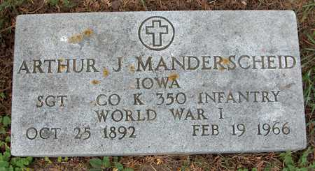 MANDERSCHEID, ARTHUR J. - Jackson County, Iowa | ARTHUR J. MANDERSCHEID