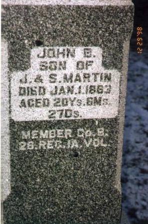 MARTIN, JOHN B. - Jackson County, Iowa | JOHN B. MARTIN