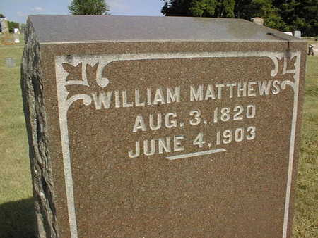 MATTHEWS, WILLIAM - Jackson County, Iowa | WILLIAM MATTHEWS