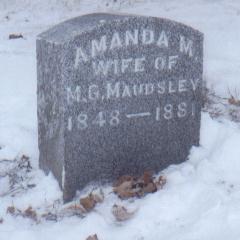MAUDSLEY, AMANDA M. - Jackson County, Iowa | AMANDA M. MAUDSLEY