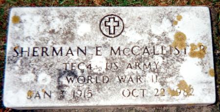 MCCALLISTER, SHERMAN E. - Jackson County, Iowa   SHERMAN E. MCCALLISTER