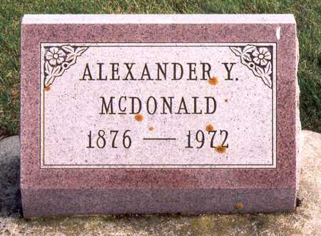 MCDONALD, ALEXANDER YOUNG - Jackson County, Iowa | ALEXANDER YOUNG MCDONALD