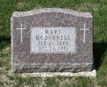 MCDONNELL, MARY - Jackson County, Iowa   MARY MCDONNELL