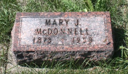 MCDONNELL, MARY J. - Jackson County, Iowa | MARY J. MCDONNELL