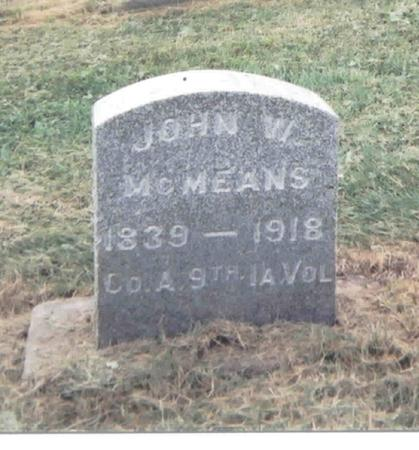 MCMEANS, JOHN WILBERT - Jackson County, Iowa | JOHN WILBERT MCMEANS